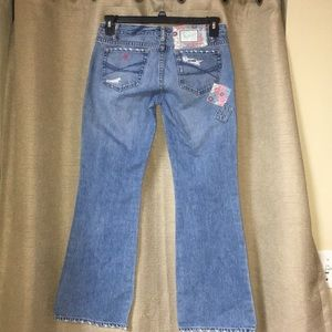 Aeropostale Authentic Flare Jeans patch distressed
